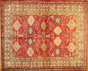 Kazak, Afghan 5′ x 6′ 2″