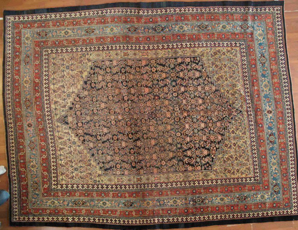 """Bijar, Antique, Persian (9' 6"""" x 12' 6"""")"""