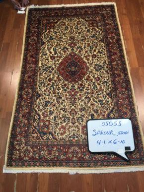 """Sarouk, Persian (4' 1"""" x 6' 10"""")"""