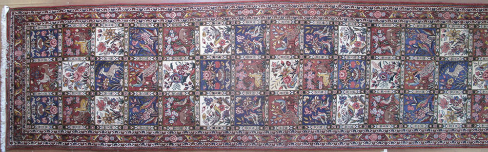 """Bakhtiari, Persian (3' 9"""" x 14' 2"""")"""