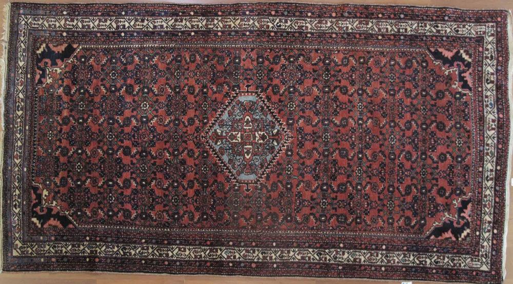 """Hosseinabad, Semi-Antique, Persian (5' 6"""" x 9' 10)'"""