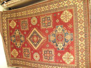 Kazak Afghan Red White 10-2x14 full