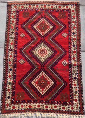 kazak russian 4-7x6-10 red white green WS